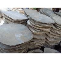 Wholesale Grey Slate Garden Stepping Stones Round Natural Paving Stone Exterior Landscaping Stone Pavers from china suppliers