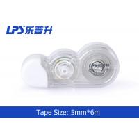 Buy cheap Mini PET Film Correction Tape 5mm * 6m in Blister Card OEM / ODM from wholesalers
