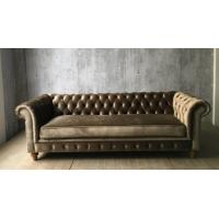 Wholesale 2017 hot sale moden luxury chesterfield sofa with grey velvet,living room sofa,french style sofa,oak wood sofa from china suppliers