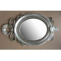 Wholesale bowknot hotel framed bathroom mirror,wood framed bathroom mirror from china suppliers