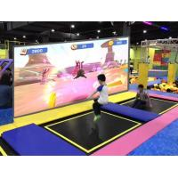 Wholesale Projection Type Interactive Wall Display , Trampoline Park Use Interactive Racing Games from china suppliers