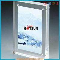 Wholesale High quality clear square double sided acrylic photo frame with magnets from china suppliers