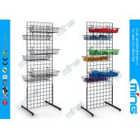 Wholesale Black Double Wire Mesh Gridwall Display Racks Unit With Bulk Baskets from china suppliers