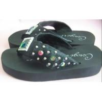 Wholesale 4 Leather EVA PVC PU TPR Rubber EPP EPE Foam Lady Children Flip Flops Slipper from china suppliers