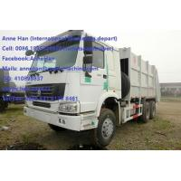 Quality Auto HOWO 16 Cbm 10 Wheels Garbage Compactor Truck With Rear Cover / Italy Pto for sale