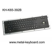 Wholesale IP65 Anti - vandal Black Industrial Computer Keyboard with Stainless steel Trackball from china suppliers