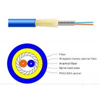 Wholesale 1 / 2 Cores Indoor FTTH Fiber Optic Cable GJSFJV Diameter 0.9mm Flexible Easy Bend from china suppliers