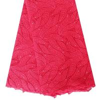 Wholesale 2015 Hot Products Quality Red Water Soluble Heavy Cord Lace Fabric 5 Yards For Dress from china suppliers