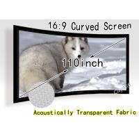 Wholesale 180 Degree Curved Projection Screen Fabric For Full Hd Led Projectors from china suppliers