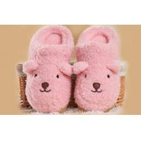 Wholesale Cute pink Custom Women's Indoor Slippers in Knit Cloth , fuzzy slippers from china suppliers