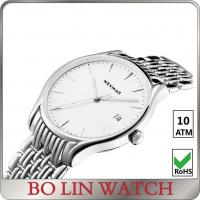 Wholesale Eco Friendly Day / Date Stainless Steel Men Watches Water Resistant With Big Face from china suppliers