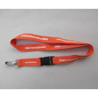 Wholesale Corporate logo polyester ID card badge lanyards, cheap silkscreen print polyester lanyards from china suppliers