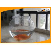 Quality Beautiful 4L Round PET Plastic Fish Bowl , Aquarium Fish Tank For Home Decorative for sale