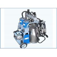 Wholesale Automatic Trolley Type Piston Pump Mobile Milking Machine For Dairy Cows , 25L from china suppliers
