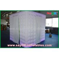Wholesale Green Background Inflatable Photo Booth 2.5 x 2.5 x 2.5m For Wedding / Event from china suppliers