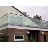Quality Top Slot Handrail U channel Glass Fixing Balustrade for sale