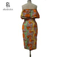 Quality Sleeveless Style Women Knee Length African Print Dresses For 18-45 Age for sale
