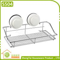 Wholesale Bathroom Wall Mounted Suction Iron Wire Storage Shelf from china suppliers