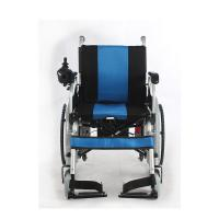 Quality Liquid Painted Steel Indoor Power Wheelchair , Collapsible Electric Wheelchair for sale