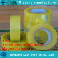 Wholesale luda suppier high quality transparent bopp packing adhesive tape roll from china suppliers