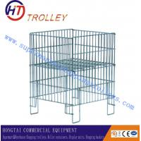 Wholesale Foldable Wire Mesh Dump Bin Silver powder coating With Adjustable Shelf from china suppliers