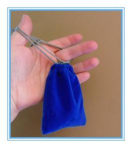 Buy cheap Sewing By Hand Royal Blue Mini Velvet Drawstring Bag , Velour Bag For Gift from wholesalers