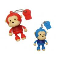 Wholesale OEM, ODM Durable PVC Blue Monkey Shape Usb Sticks, Flash Driver 4MB - 512MB from china suppliers