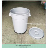 New Products Plastic round trash can waste basket lidless garbage bins with dolly for sales
