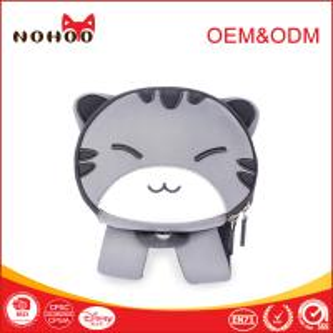 Quality OEM waterproof children school bag Grey cute cat Pattern Neoprene Material for sale