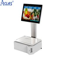 Wholesale ARM-based Touch Scale With Best Price,Retail POS scale,Fiscal Cash Register from china suppliers