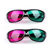Wholesale Cinema Plastic Anaglyph 3D Glasses Linear Polarized With Anti Scratch Lenses from china suppliers