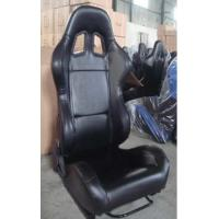 Wholesale Car Sport Racing Seat Black color PVC With Single Recliner and Double Slider from china suppliers