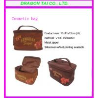Wholesale Microfiber cosmetic bags with handle, portable makeup bags, cosmetic bag factory from china suppliers