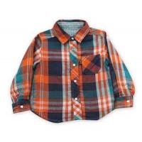 Wholesale 100% cotton Yarn Dyed flannel kids long sleeve plaid shirts, designer childrens clothes from china suppliers