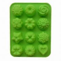 Wholesale Floral Shape Silicone Bakeware Baking Mold with Sized 21.5 x 16.2 x 2.5cm from china suppliers
