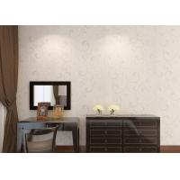 Buy cheap Washable Embossed Vinyl Wallpaper Vinyl Material With Silver Leaf Pattern from wholesalers
