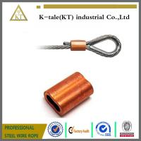 Wholesale HOT SALE HIGH QUALITY 1/32 COPPER DOUBLE FERRULES FOR WIRE ROPE SLING from china suppliers