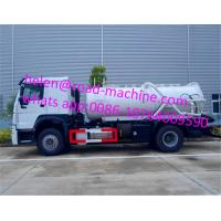 Wholesale HOWO 4*2 12,000 Liters Heavy Sewage Suction Truck , White Color Vacuum Suction Truck from china suppliers