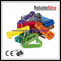Wholesale CE GS Approved Polyester Duplex Flat Webbing Sling for Lifting , Eye to Eye Sling from china suppliers