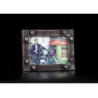Wholesale Modern Industrial Table Picture Frames In Rust Finishing With Rivet Decoration from china suppliers
