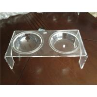 Wholesale Luxury Clear Acrylic Pet Bowl Stand With Two Bowls For Dog / Cat from china suppliers