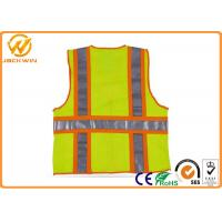 Quality Mesh High Visibility Reflective Safety Vests , Construction Worker Safety Work for sale