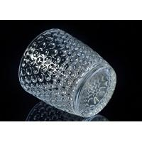 Wholesale Embossed Nail Design Glass Candle Holder Christmas Deco Glass Candle Jars from china suppliers