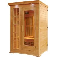 Wholesale 2people  canadian hemlock far infrared sauna room with carbon heater from china suppliers