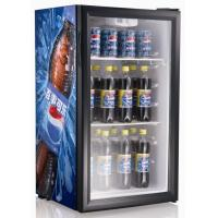 Wholesale 98LTable top Glass Door Mini Refrigerator with Compressor picnic refrigerator SC98 from china suppliers