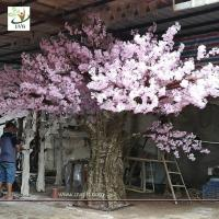 Buy cheap UVG event decoration materials large indoor artificial trees in cherry blossom bouquets CHR163 from wholesalers