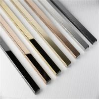 Buy cheap Free sample stainless steel tile trim u shape polished ss profile from wholesalers