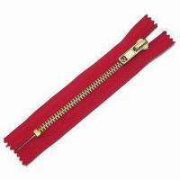 Buy cheap Zipper, Comes with Slider, Made of Metal, Customized Lengths and Specifications are Accepted from wholesalers
