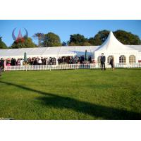 Wholesale Unique Luxury Wedding Marquee Tent , PVC Sheet White Wedding Party Tents from china suppliers