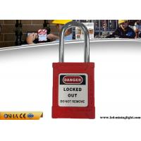 Wholesale Safety Lockout Padlocks 38 Mm Steel Lock Shackle 53 Mm ABS Lock Body from china suppliers